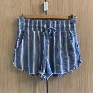 Hollister Blue and White Striped Summer Shorts